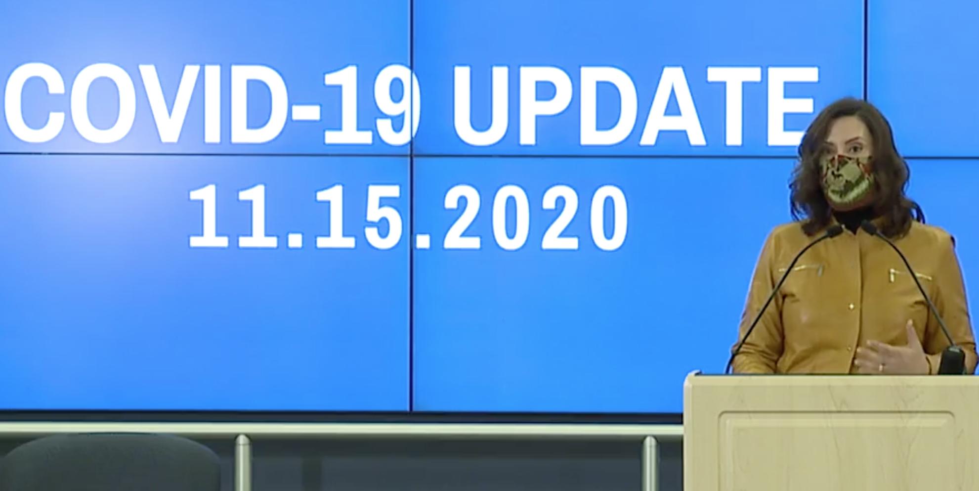 Governor Whitmer covid-19 11.15.2020